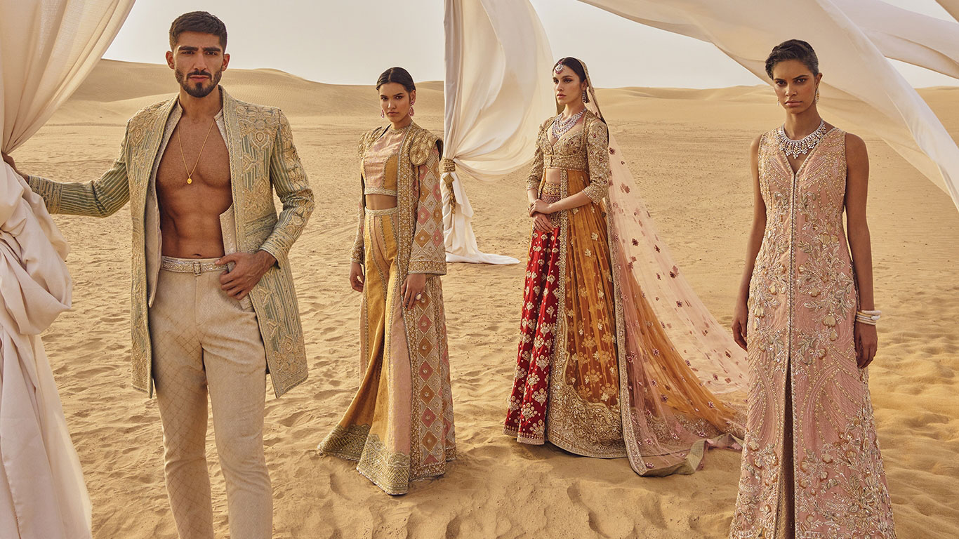 faraz manan sherwani and bridal dress